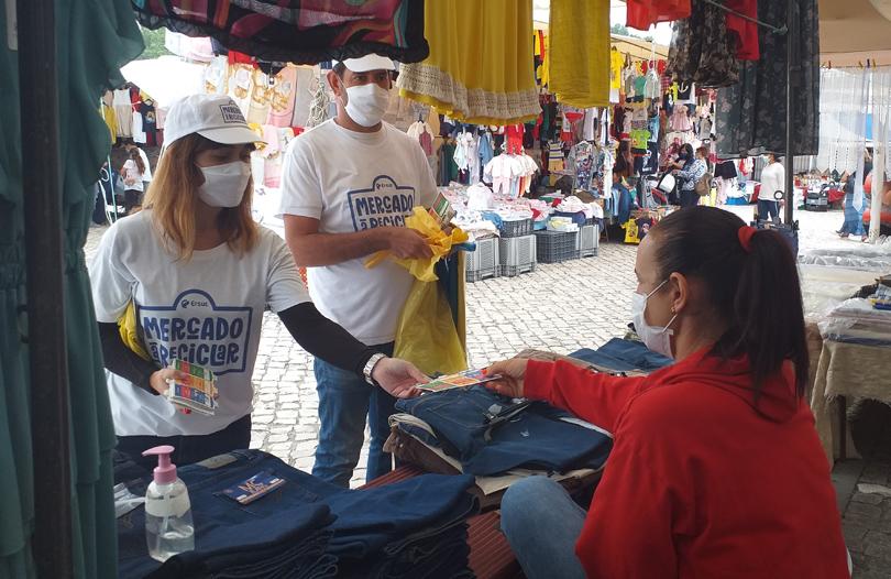 Campanha 'Mercado a reciclar'